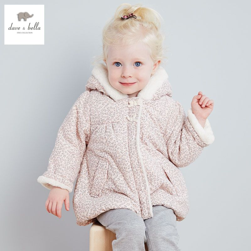 4b0dfd1fe DB2808 dave bella winter baby girl cute jacket padded jacket girls ...