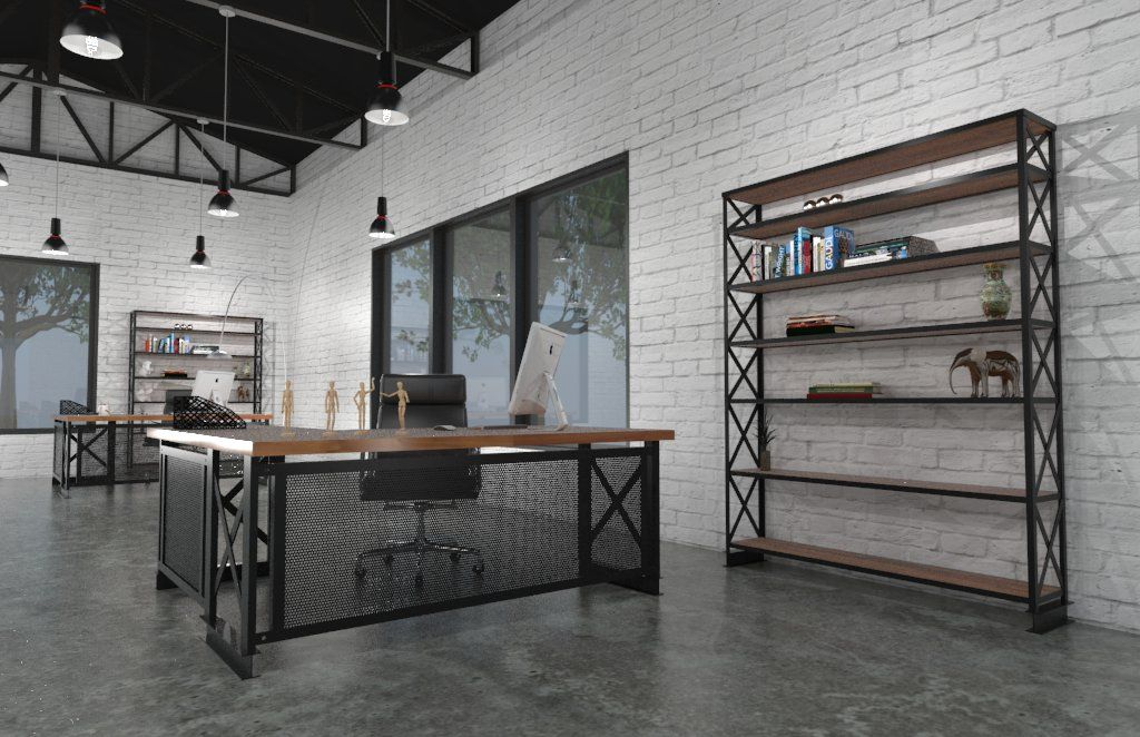 The Perfect Example Of How You Can Create A Modern Industrial Style Office  With The Help