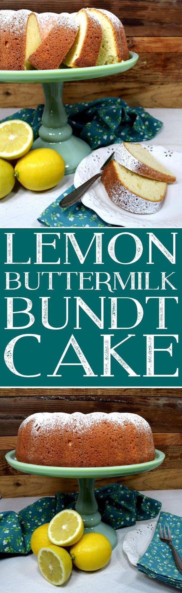 Lemon Buttermilk Bundt Cake Bundt Cake Lemon Recipes Best Dessert Recipes