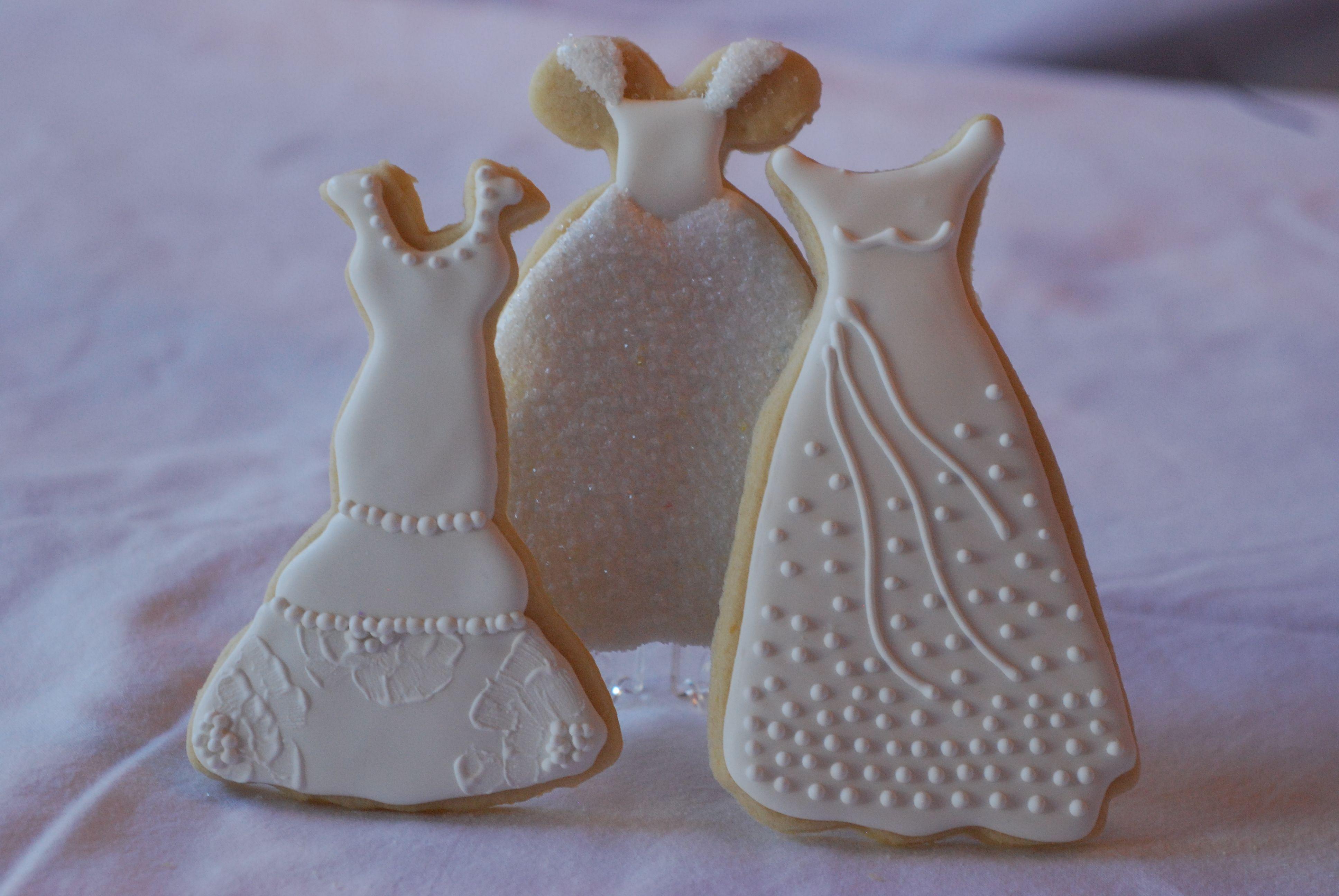 Wedding gown sugar cookies   Cookies   Pinterest   Sugar cookies ...