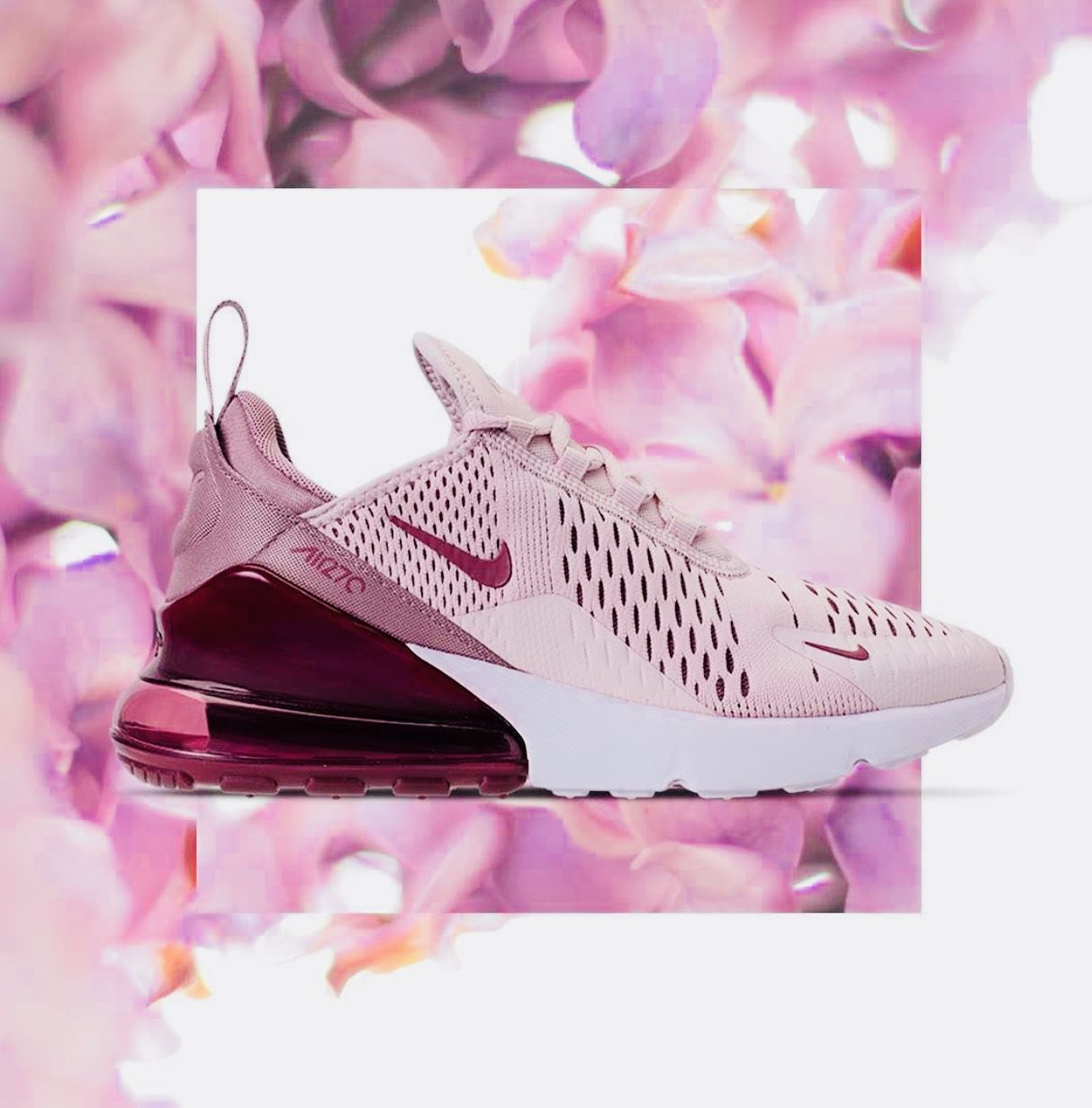 236fa1ece197 Women s Nike Air Max 270 - Barely Rose Vintage Wine Elemental Rose White
