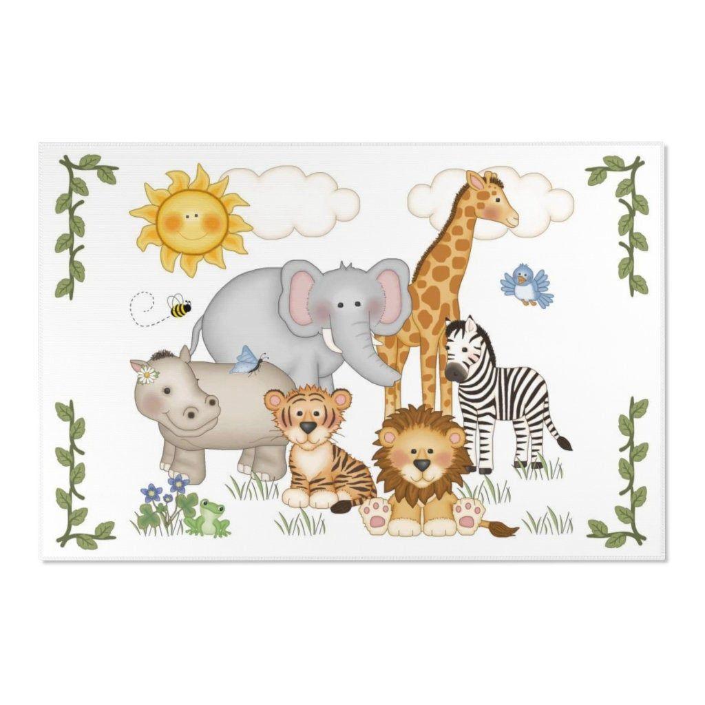 JUN6 Giraffe Lion Tiger Calligraphy Jungle Animals Baby Shower Decoration Card and Gifts Safari Baby Decor Scandinavian Jungle Animals