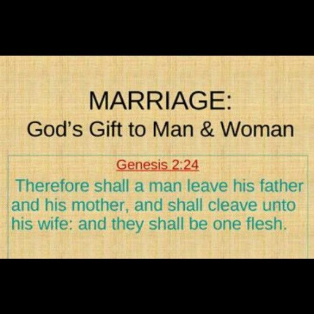 Marriage Gods Gift To Man Woman Husbandwife TeamMarriage MarriageMatters
