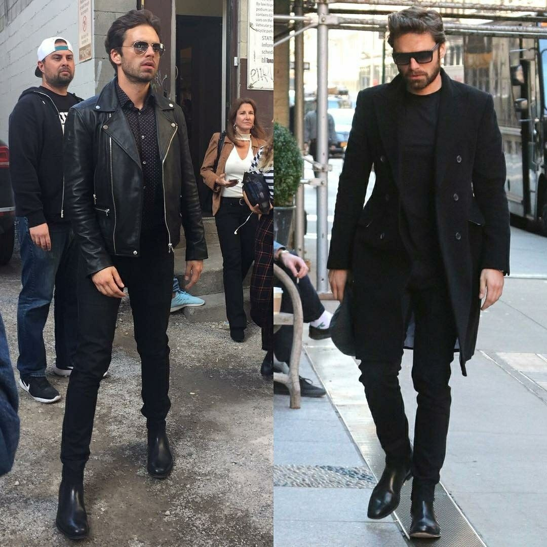 Sebastian in full black outfits is what i live for