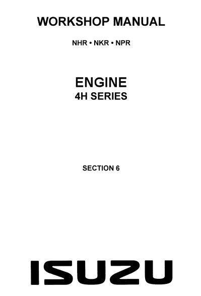 New post (Isuzu Engine 4H Series Workshop Manual (LG4H-WE