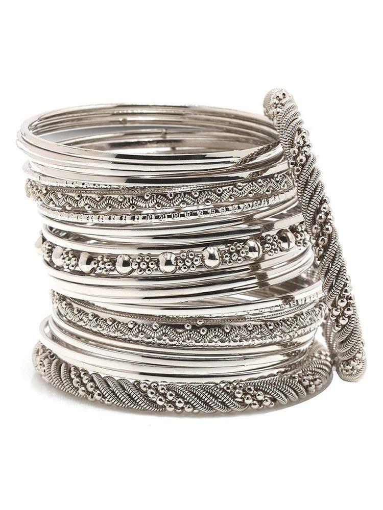 Stunning Ebay Indian Wedding Silver Plated Bangles Bracelets Set