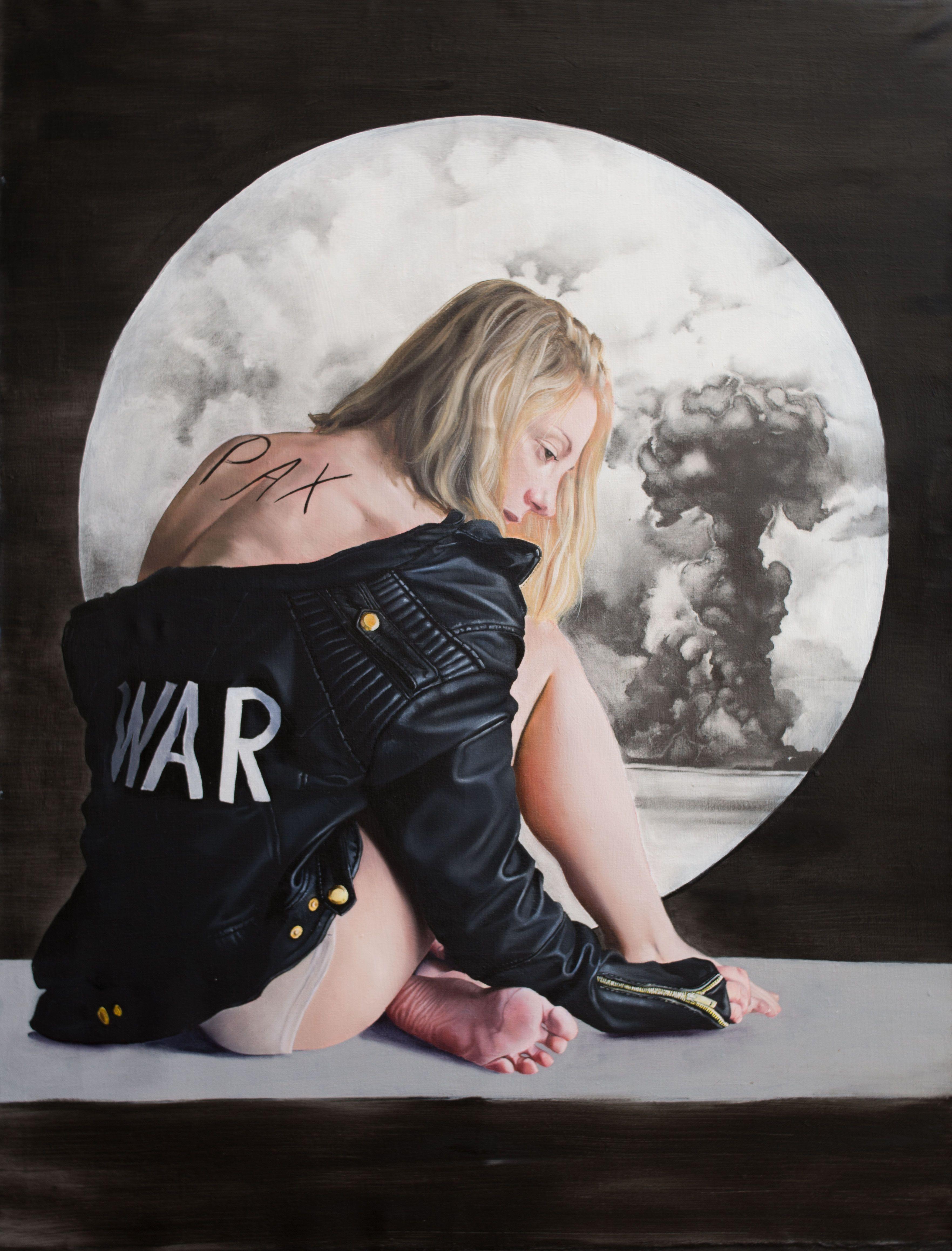 War; horsemen of apocalypse; oil on canvas; 150x115cm  fajcikova.com