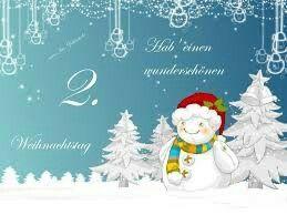 2weihnachtstag Weihnachtsfeiertage Weihnachtstage