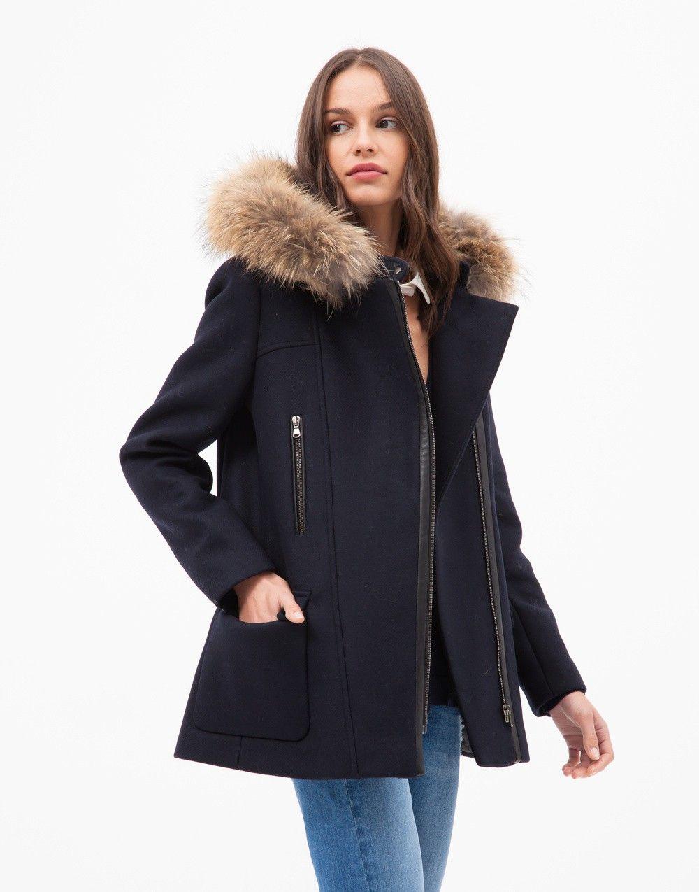 Duffle-coat gabie marine - femme - zapa 1   mode femme   Duffle coat ... 3a44aa2e49d