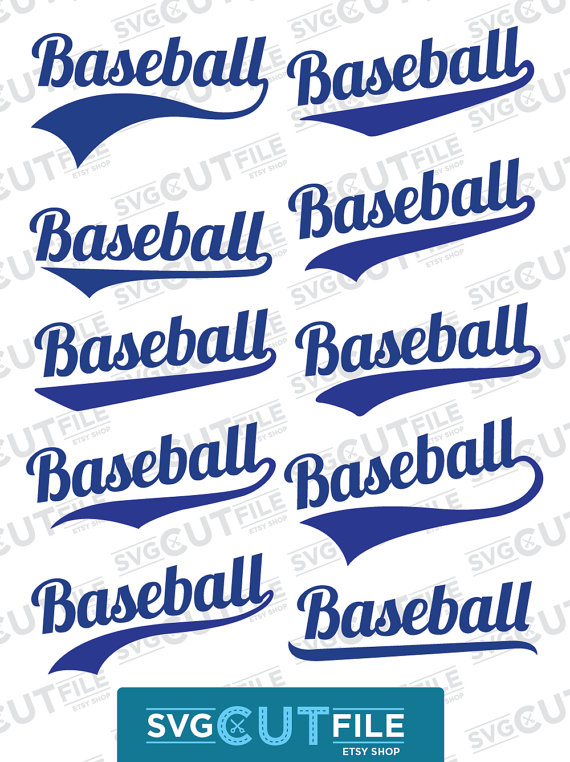 Swoosh SVG or Swish PNG Text Tail Word Endings, Swash underline dxf, Sporty baseball, softball ...