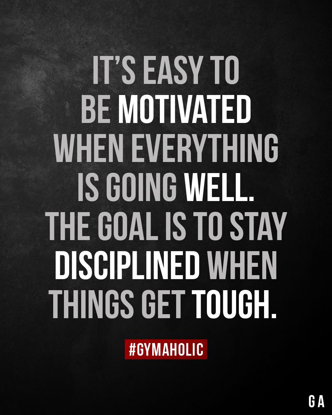 It's easy to be motivated when everything is going well. the goal #everything Fitness motivation to...