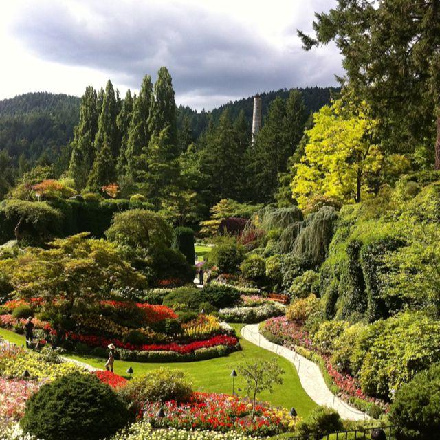 Sunken garden at Buchart's Garden Buchart gardens