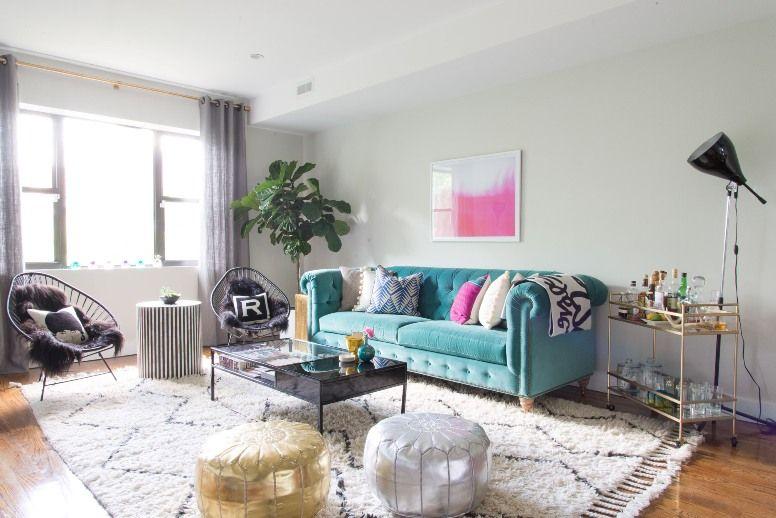 Antic&Chic. Decoración Vintage y Eco Chic: [Decoración muy Chic] Un apartamento en Brooklyn lleno de color