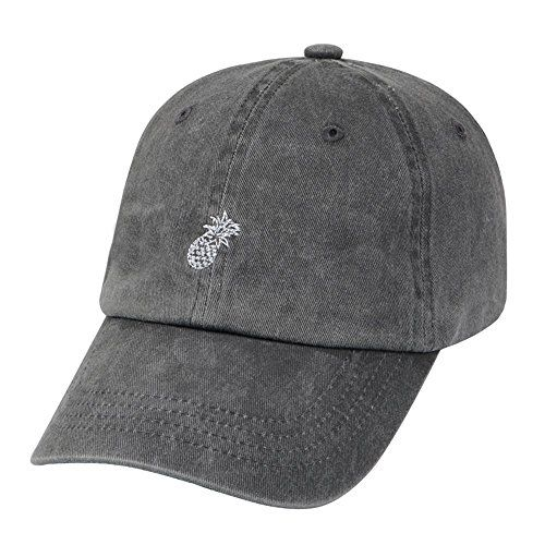 0f62fa1bb5cfb Hatphile Mens Womens Dad Hat Large Gray Enzyme Washed Pin... http