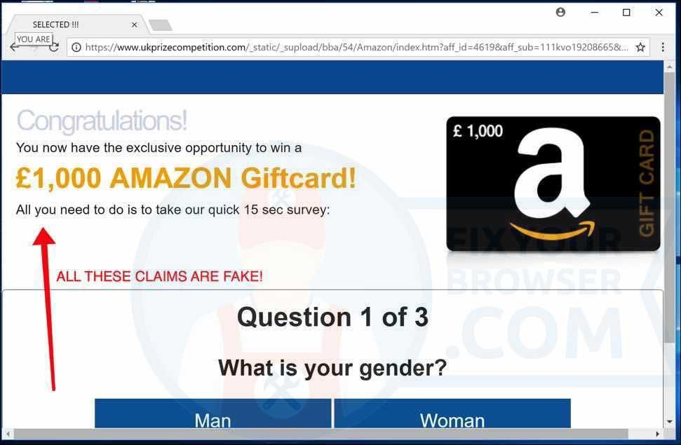 How To Remove 1 000 1000 Amazon Giftcard Chrome Firefox Ie Gift Card Free Amazon Products Malwarebytes