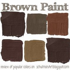 Best Brown Paint Color For Your Home Colors Swatches Decorating Ideas On