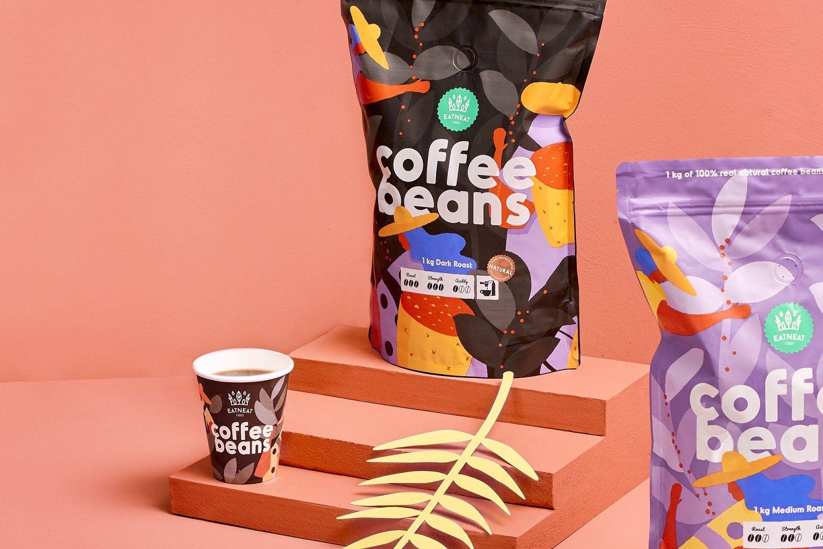 Coffee Beans Coffee branding, Coffee beans, Brand packaging