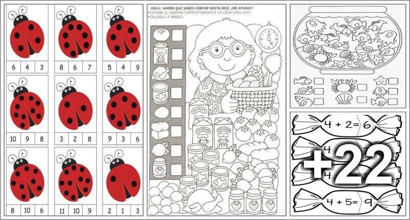 Actividades Para Imprimir Educacion Preescolar Alumno On Aprendiendo A Contar Imprimibles Para Preescolar Actividades