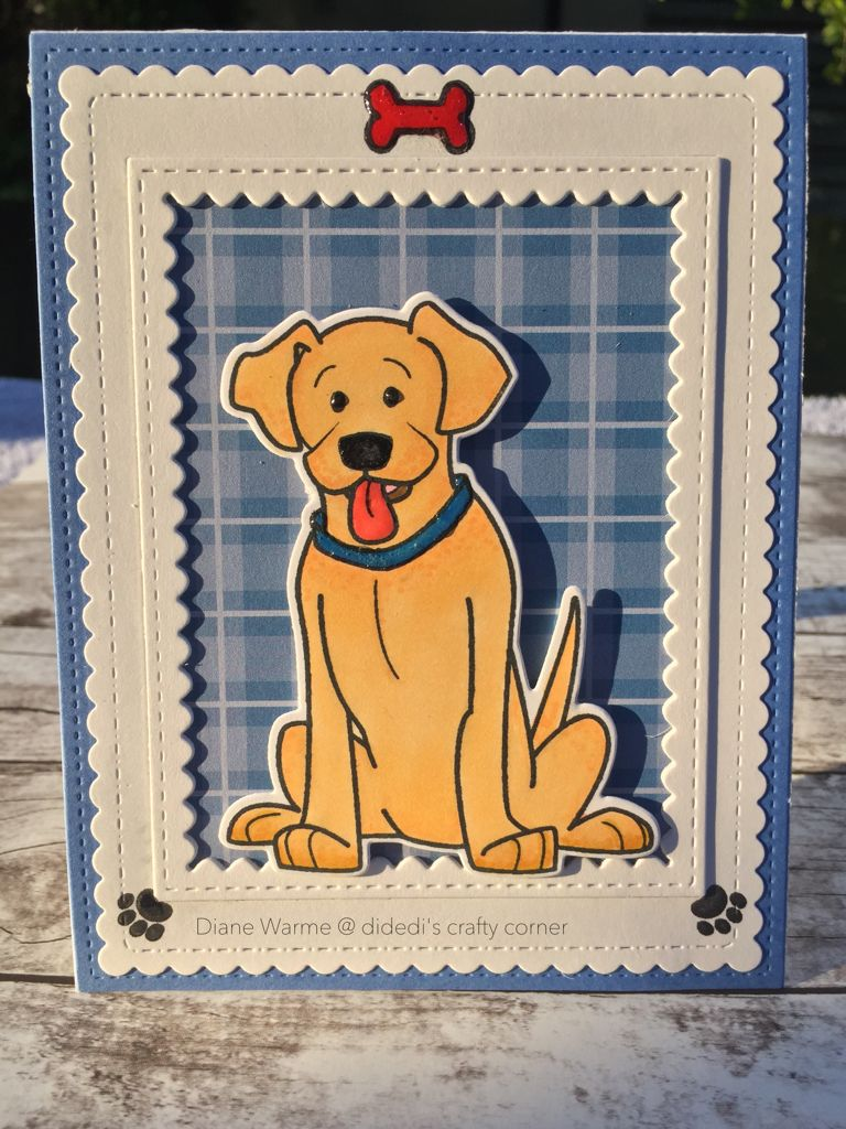 "This card was created by : Didedi's Crafty Corner, using the Stamps Of Life stamps and dies ""friends4Cookie"""