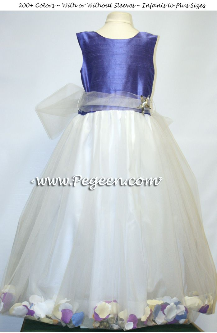 5b164bd8fa8 The Perfect Beach Flower Girl Dresses with Added Sea Shells Style 334 by  Pegeen