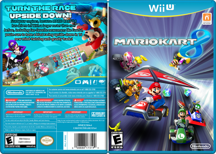 Mario Kart 8 Wii U Box Art Cover By Dimentio64 Excellent
