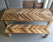 Reclaimed Pallet and Barn Wood Dining Table with Parson Style Wooden Legs - Noctua Pattern images