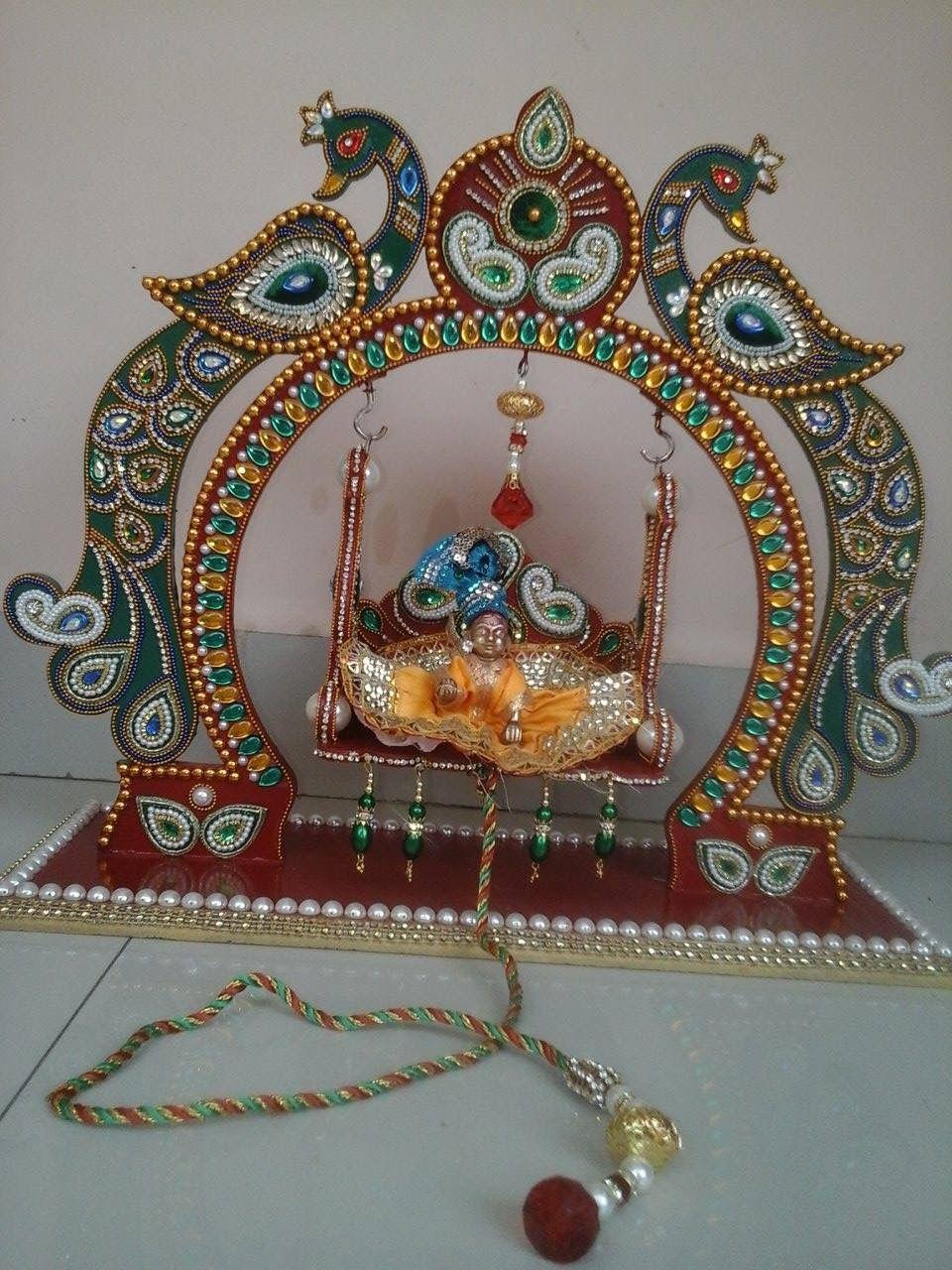 Kundan Rangoli Janmashtami Decoration Art N Craft Diwali Craft