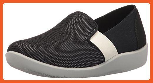 915ac12719f13 Clarks Women's Sillian Oak Slip-on Loafer, Black/White Mesh Fabric ...