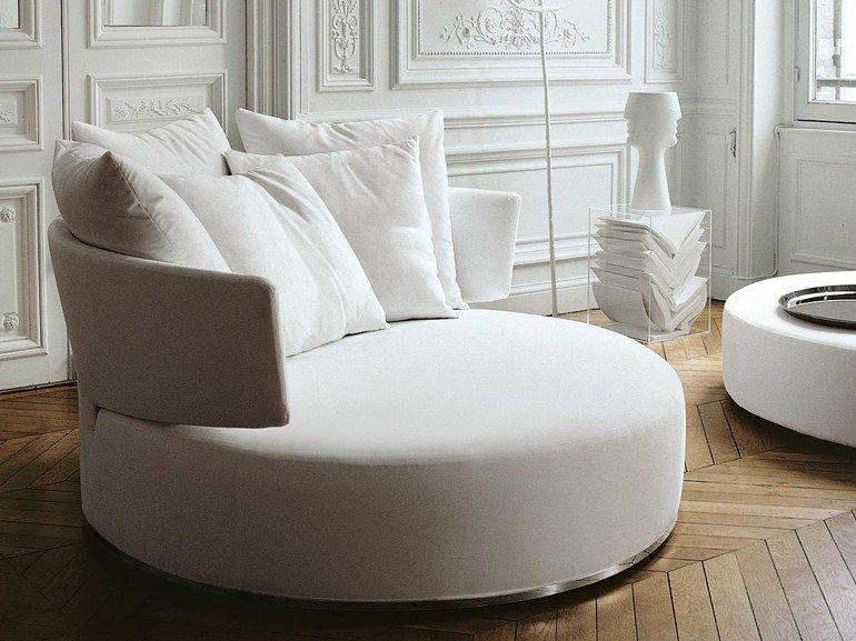 Rundes Sofa aus Stoff Sofa aus Stoff Kollektion Amoenus by Maxalto ...