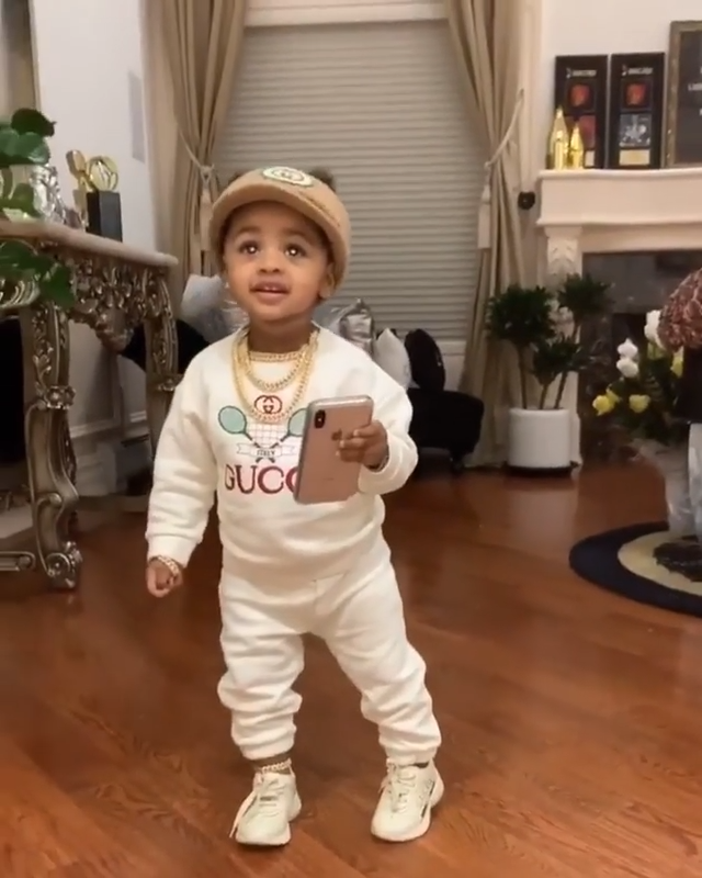 Cardi B's Daughter Kulture Cephus - Gucci Baby Whi