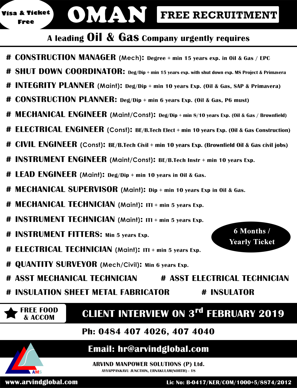Moh Oman Vacancies