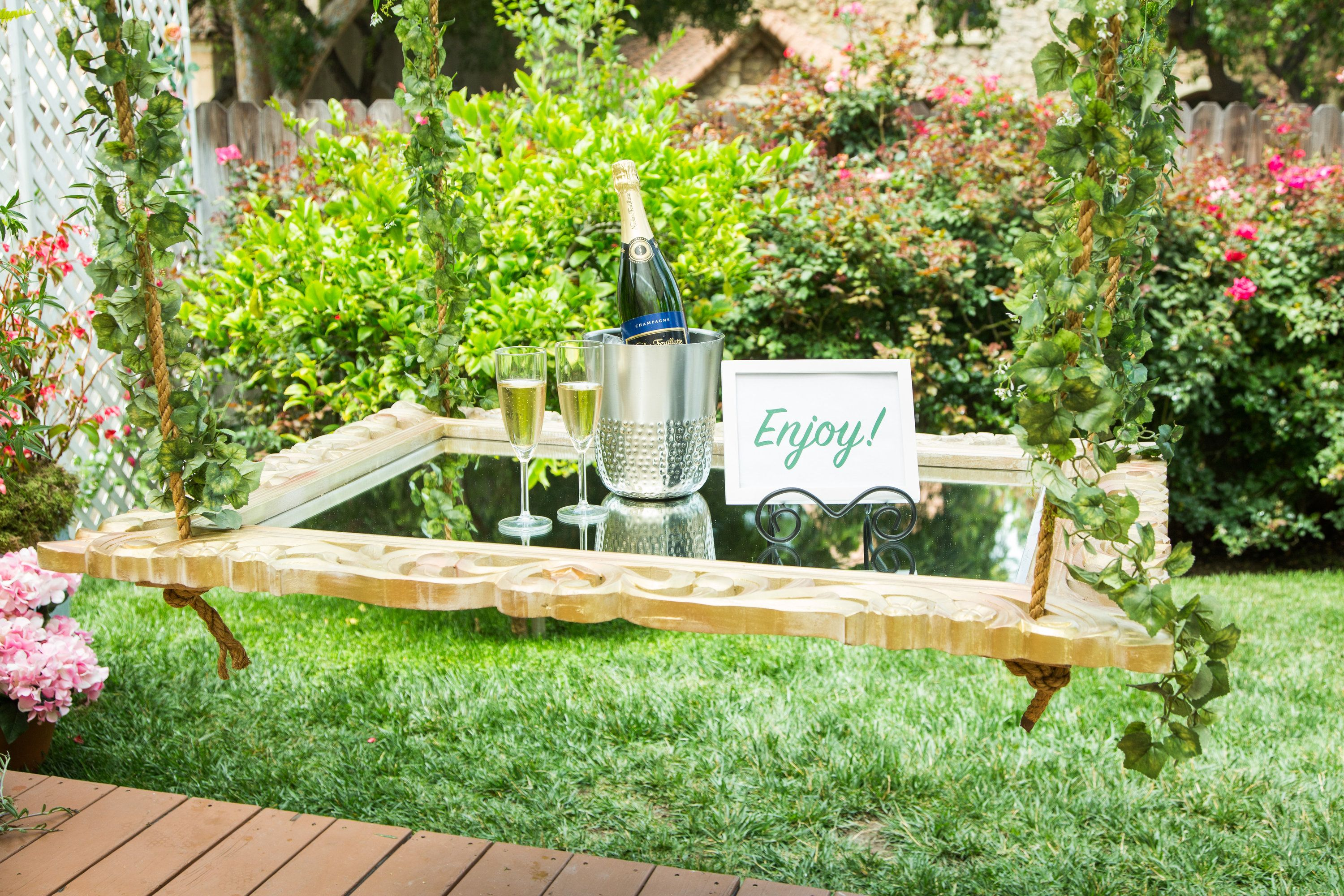 ken wingard is making the perfect tray for your champagne bottles