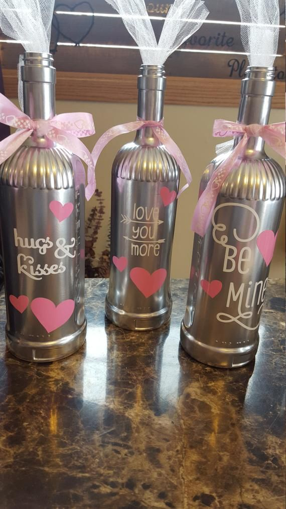 Items similar to valentine Decorated Bottles on Etsy