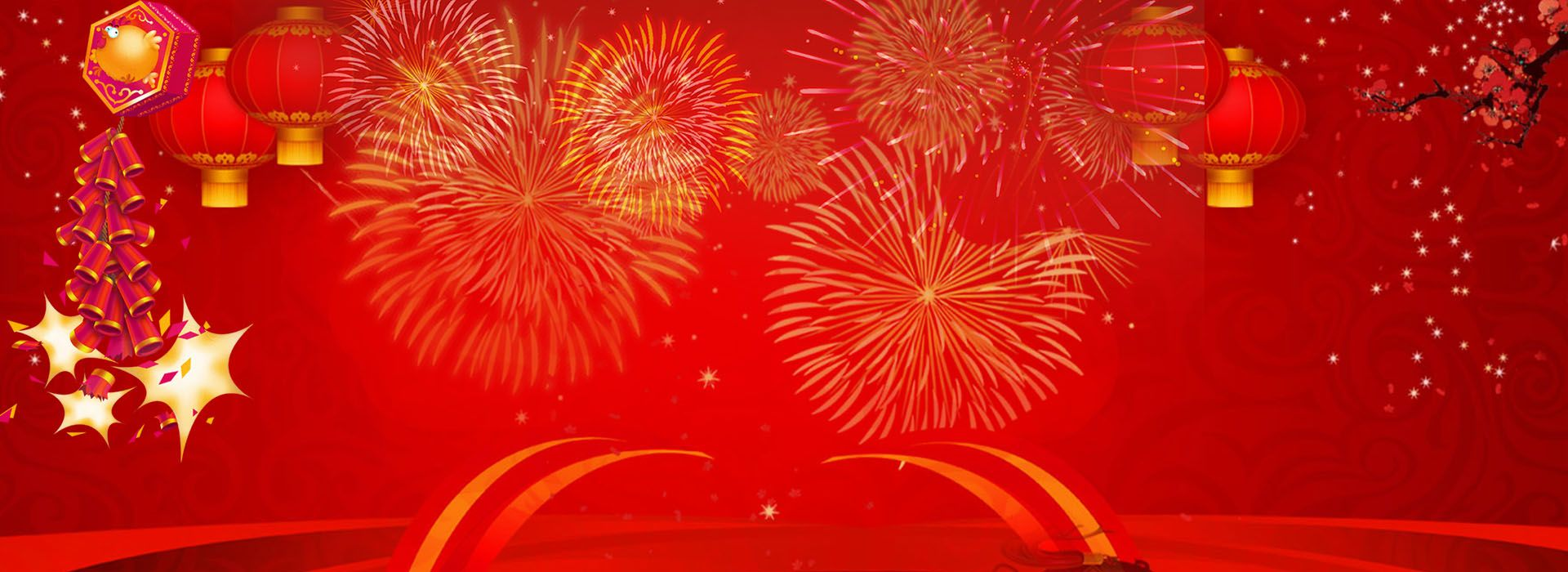 Happy New Year Red Background Happy new year background