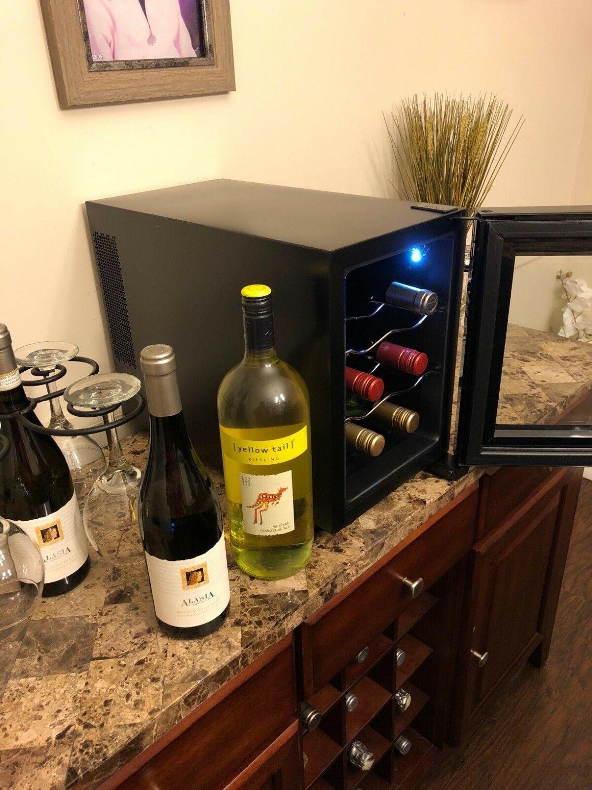 Small Wine Cooler Compact Countertop Beverage Fridge Mini Electric