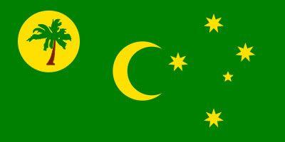 Las Islas Cocos o Islas Keeling (Fuente: Comprarbanderas.es) @Comprarbanderas #bandera