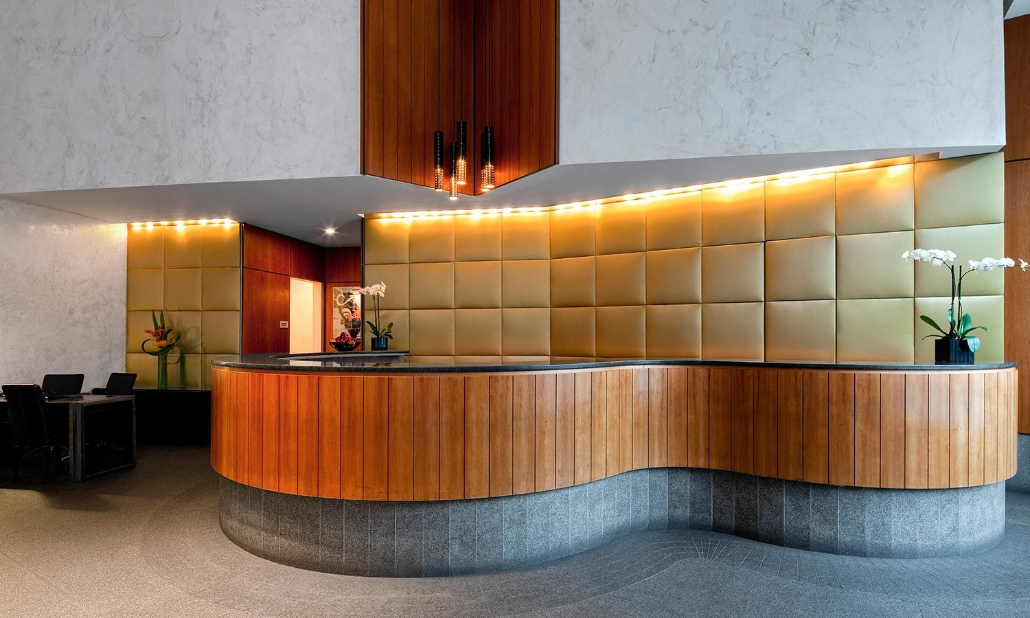 Hotel Foyer Table : Modern lobby front desk interior design architecture