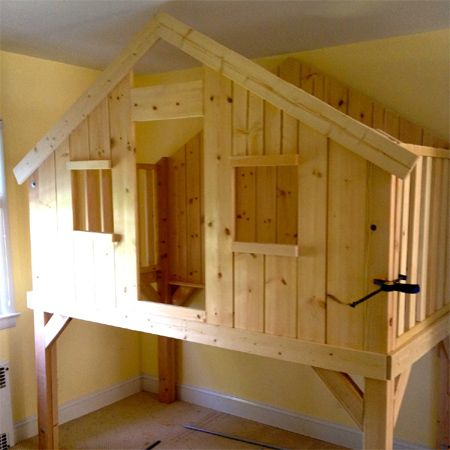 Home-Dzine - DIY loft bed playhouse or clubhouse