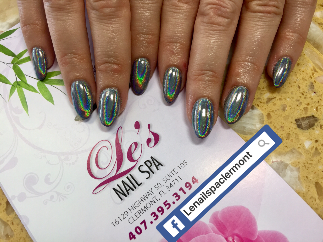 Dipping Powder on NATURE nails | Le\'s Nail Spa Clermont | Pinterest ...