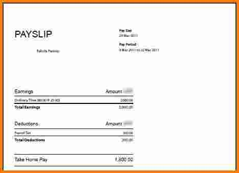 4 free salary payslip template rsvp slip template News to Go 3