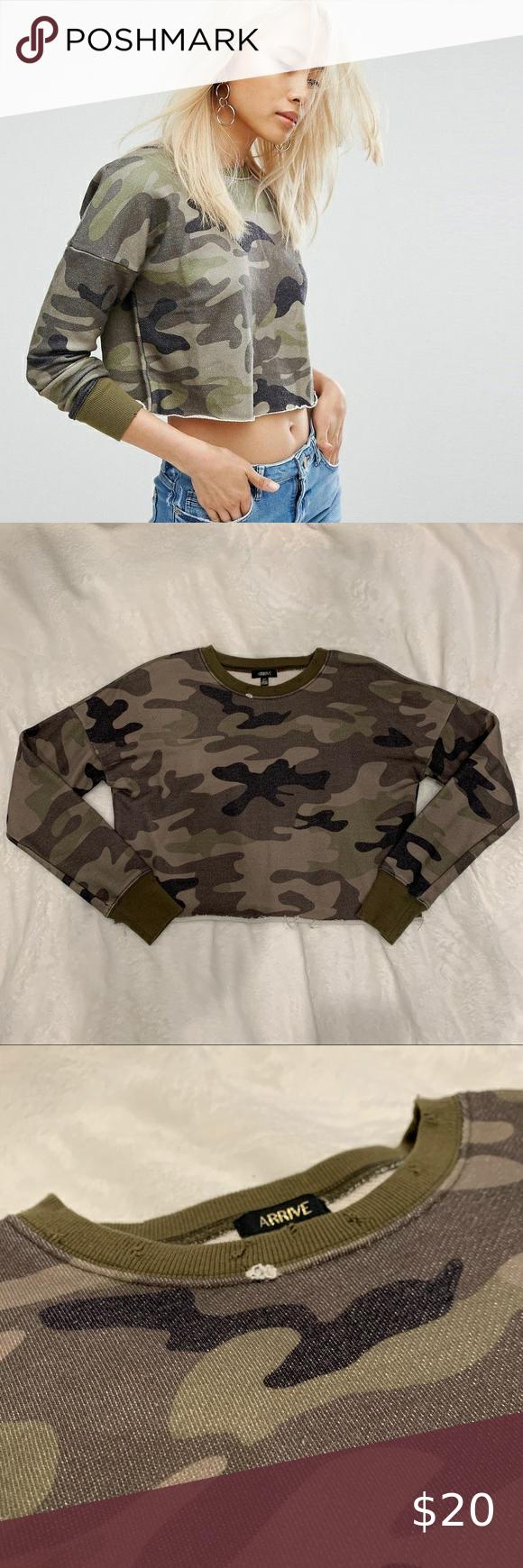ASOS Arrive Cropped Raw Edged Sweatshirt