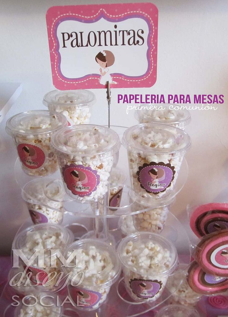 Papeler a para mesa de postres y botanas bautizo fer pinterest candy table party y baby - Aperitivos para baby shower ...