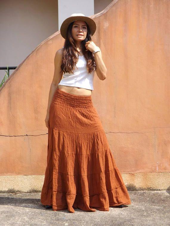 5257dd8f21 Long Skirt / Maxi Skirt / Long Boho Skirt / Full Length Skirt ...