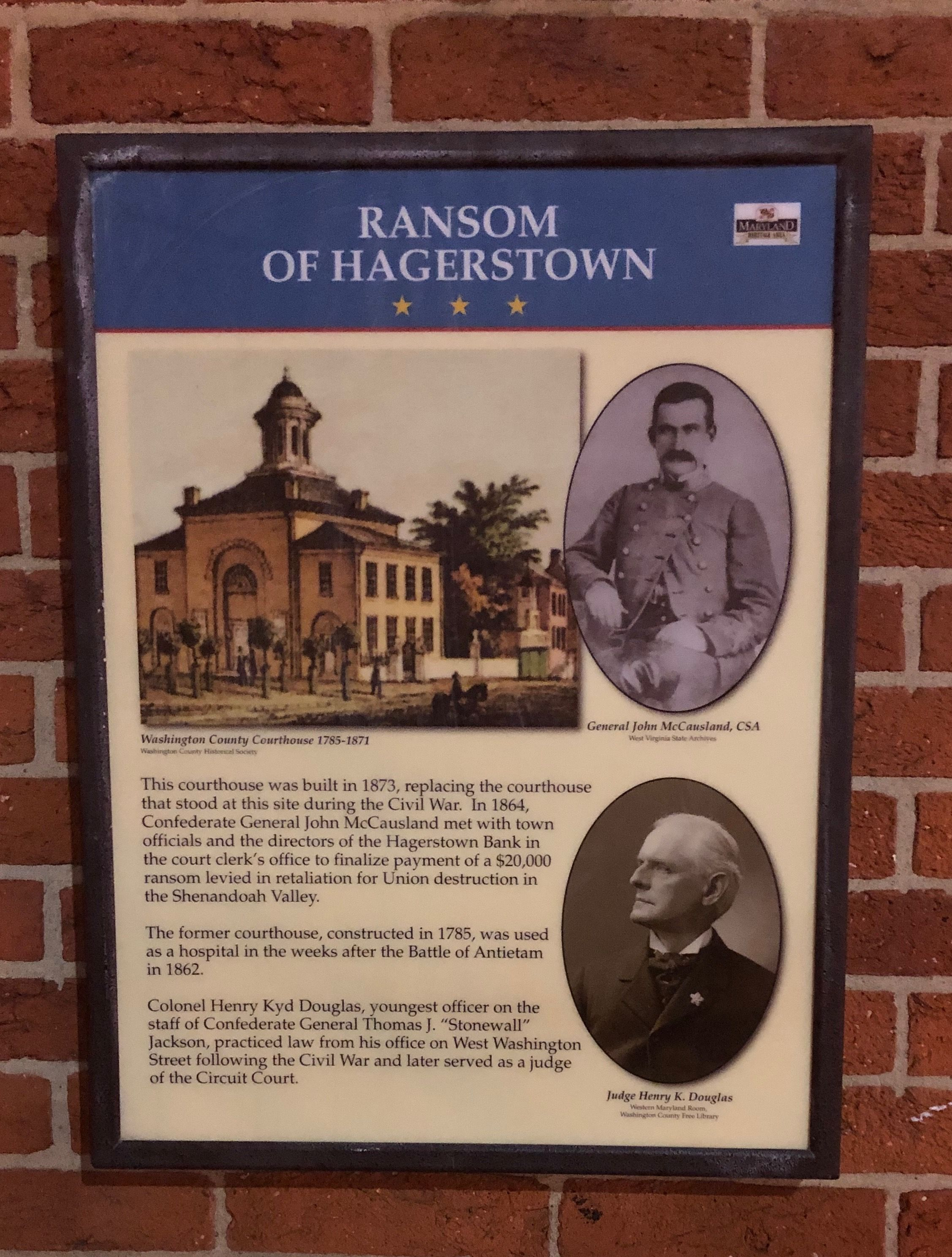Historic Sign Ransom Of Hagerstown Maryland Paul Chandler April