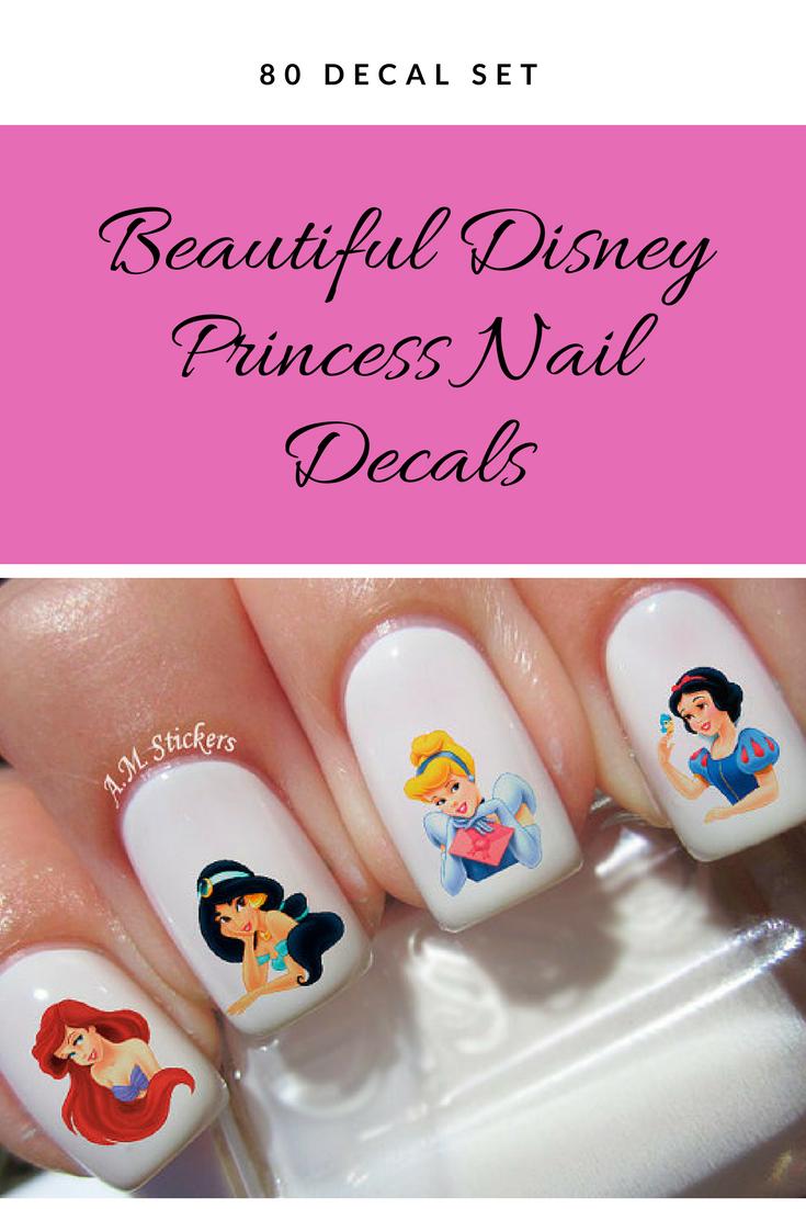 If you love Disney Princesses, you\'ll love this nail decal set ...