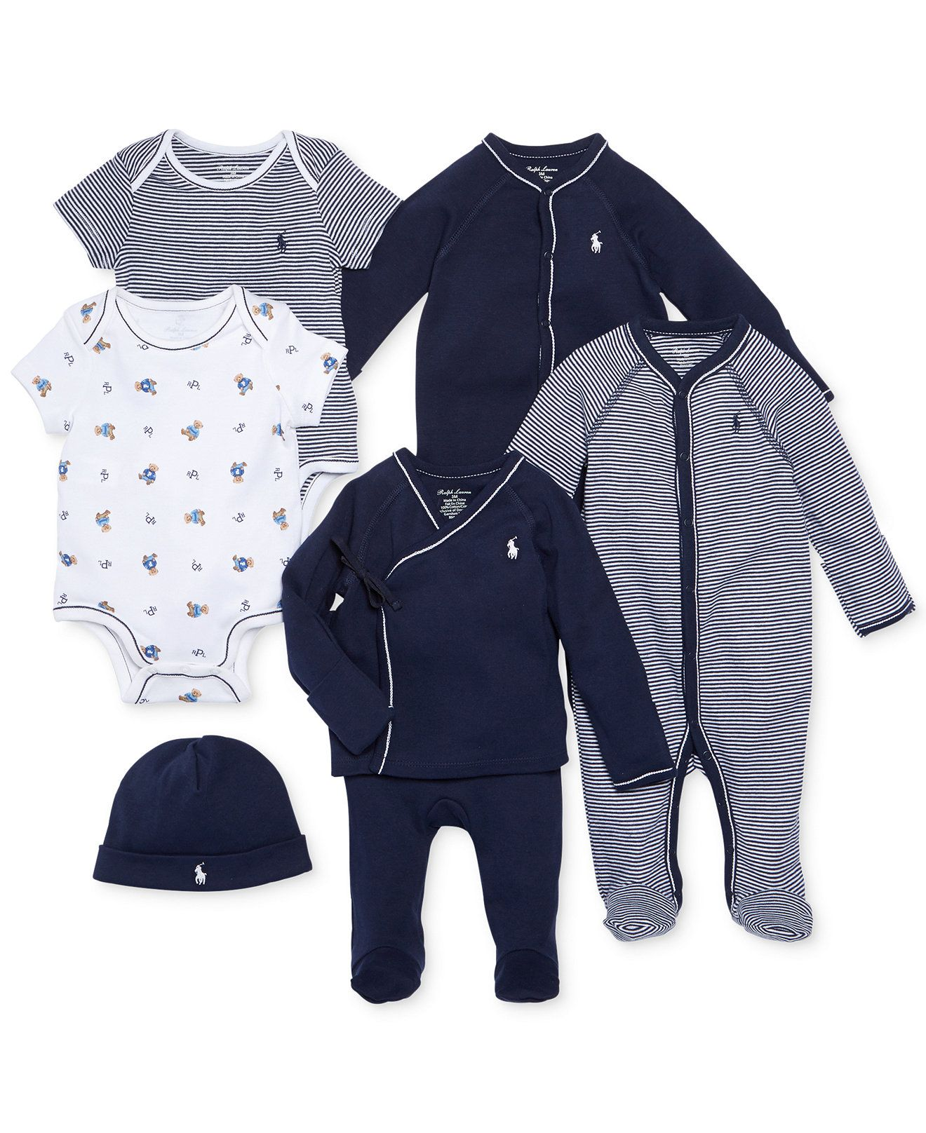 Ralph Lauren Baby Boys Nestled In Navy Gift Bundle Kids