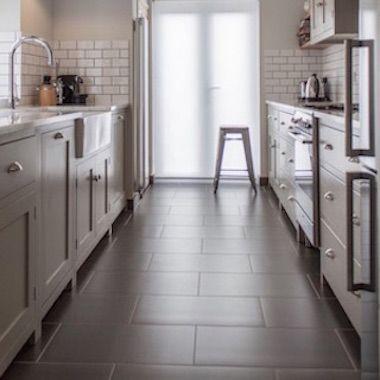 Large Rectangular Floor Tile Is One Of The Hottest Flooring Trends Stunning Rectangular Tile At L Galley Kitchen Design Trendy Kitchen Tile Kitchen Layout