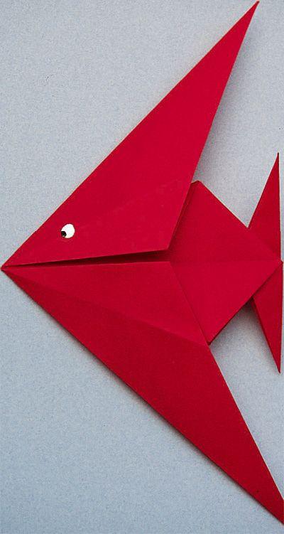poisson en origami origami diagramme loisirs cr atifs. Black Bedroom Furniture Sets. Home Design Ideas