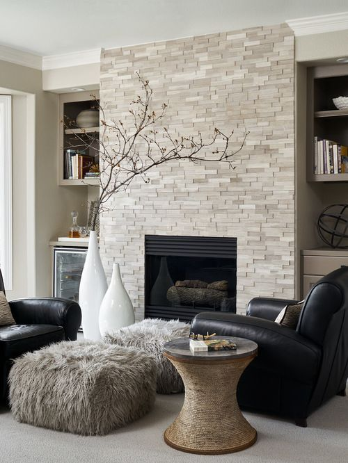 35 Most Popular Transitional Living Rooms Design Ideas -   22 fireplace decor contemporary