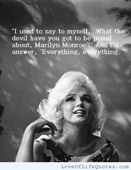 Marilyn Monroe Quotes About Friendship Classy Piccsy  Marilyn Monroe Quote On Being Proud On Imgfave  Quotes
